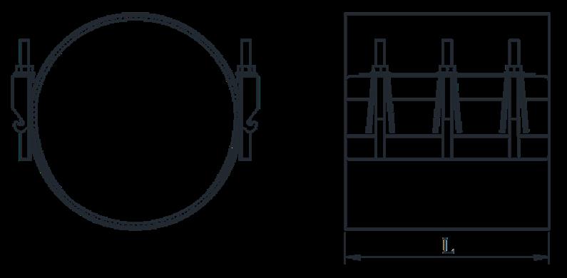 чертежи ремонтного хомута